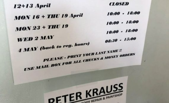 temporary changed office hours in mainz-kastel